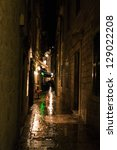 night alley in the old city of... | Shutterstock . vector #129022208