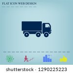 pictograph of truck | Shutterstock .eps vector #1290225223