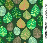 seamless. the leaves and... | Shutterstock .eps vector #129022670
