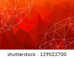 red minimalist background with... | Shutterstock .eps vector #129022700