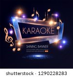 shining karaoke party banner... | Shutterstock .eps vector #1290228283