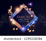 shining karaoke party banner... | Shutterstock .eps vector #1290228286