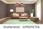 interior of the living room. 3d ... | Shutterstock . vector #1290232726