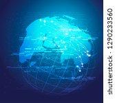technology concept background... | Shutterstock .eps vector #1290233560