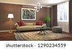 interior of the living room. 3d ... | Shutterstock . vector #1290234559