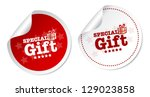 special gift stickers | Shutterstock .eps vector #129023858
