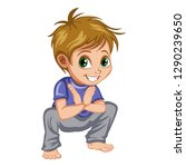 boy standing and practicing... | Shutterstock .eps vector #1290239650