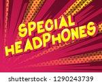 special headphones   vector... | Shutterstock .eps vector #1290243739