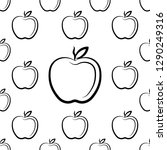 apple icon seamless pattern ... | Shutterstock .eps vector #1290249316