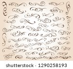 set of elegant decorative... | Shutterstock .eps vector #1290258193