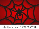 cobweb with a spider in the... | Shutterstock .eps vector #1290259930