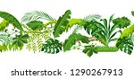 seamless pattern with jungle... | Shutterstock .eps vector #1290267913