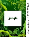 background with jungle plants.... | Shutterstock .eps vector #1290267943