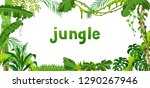 background with jungle plants.... | Shutterstock .eps vector #1290267946