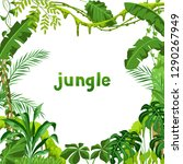 background with jungle plants.... | Shutterstock .eps vector #1290267949