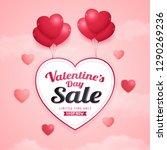 happy valentine's day sale... | Shutterstock .eps vector #1290269236