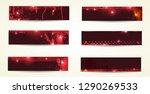 set of grunge banner. vector... | Shutterstock .eps vector #1290269533
