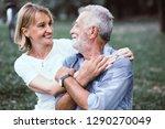 lifestyle senior couple happy... | Shutterstock . vector #1290270049
