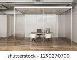 luxury office interior with... | Shutterstock . vector #1290270700