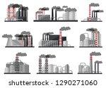 flat vector set of modern... | Shutterstock .eps vector #1290271060