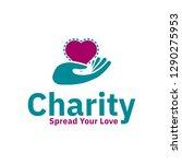 charity logo design inspiration ... | Shutterstock .eps vector #1290275953