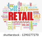 retail word cloud collage ... | Shutterstock .eps vector #1290277270