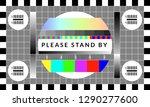 retro tv test screen. old...   Shutterstock .eps vector #1290277600