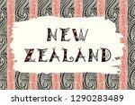 new zealand. vector... | Shutterstock .eps vector #1290283489