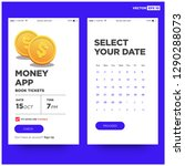 finance app design with gold...
