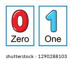 printable flash card collection ... | Shutterstock .eps vector #1290288103