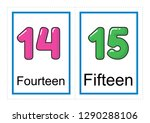 printable flash card collection ... | Shutterstock .eps vector #1290288106