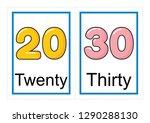 printable flash card collection ... | Shutterstock .eps vector #1290288130