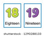 printable flash card collection ... | Shutterstock .eps vector #1290288133