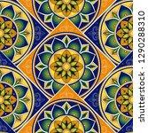 spanish tile pattern vector... | Shutterstock .eps vector #1290288310