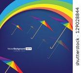colorful umbrellas. rainbow   Shutterstock .eps vector #129028844