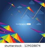 colorful umbrellas. rainbow   Shutterstock .eps vector #129028874