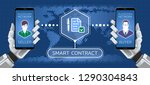 smart contract. illustration on ... | Shutterstock .eps vector #1290304843