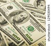 hundred dollar bills for... | Shutterstock . vector #129030494