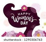 happy women's day | Shutterstock .eps vector #1290306763