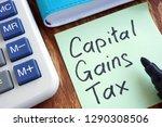cgt capital gains tax. memo... | Shutterstock . vector #1290308506