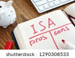isa individual savings account... | Shutterstock . vector #1290308533