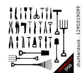 set of various gardening tools... | Shutterstock .eps vector #1290319099
