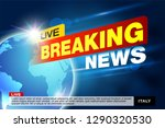 report all events  urgent news... | Shutterstock .eps vector #1290320530