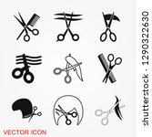 barber icon vector logo ... | Shutterstock .eps vector #1290322630