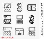 eyeshadow icon  logo eyeshadow... | Shutterstock .eps vector #1290323149