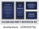 great christmas invitation in...   Shutterstock .eps vector #1290333736