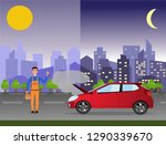 24 7 car service  repair ... | Shutterstock . vector #1290339670
