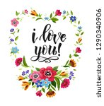 happy valentines day card.... | Shutterstock .eps vector #1290340906