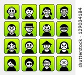set of avatar people icons.   Shutterstock .eps vector #129034184