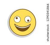 dizzy colored emoji sticker...   Shutterstock .eps vector #1290341866
